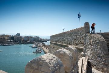 Heraklion harbor with old venetian fort Koules