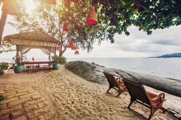 Luxury hotel terrace sea view