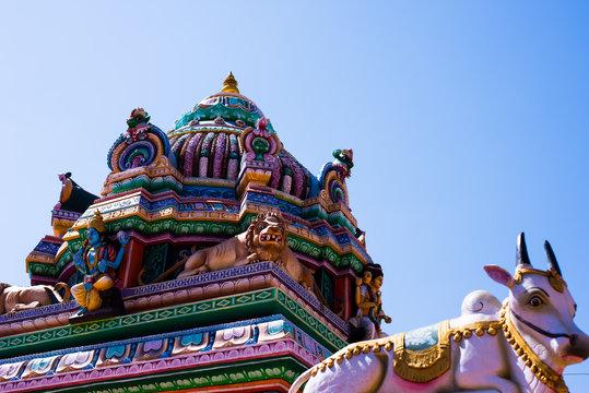 South Indian Temple Gopura (Tower) in Yelagiri