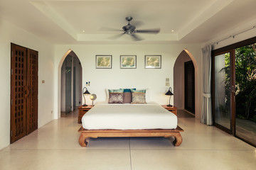 Modern bed room interior in Luxury villa