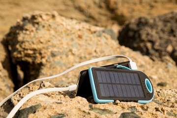 the solar battery for a backpack
