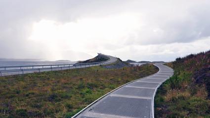 Atlanterhavsveien, scenic norwegian bridge connecting islands along the Atlantic Ocean Road