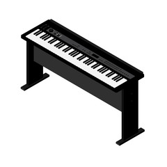 Synthesizer isometric vector