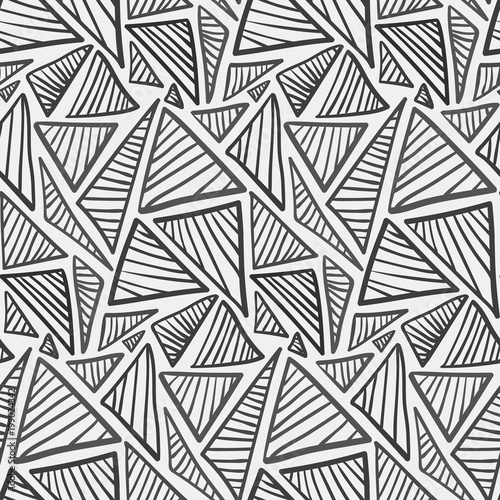 monochrome doodle hand drawn striped triangles pattern abstract Net Wrap Product abstract fashion trendy vector texture with sketch geometric shapes for textile wrapping paper cover surface background wallpaper