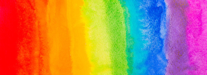 rainbow spectrum watercolor paint splash background . illustration for design wedding invitation, greeting or birthday card, web banner, tag, label, logo and text Wall mural