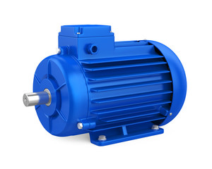 Industrial Electric Motor Isolated