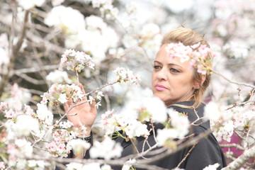 Mulher em flor
