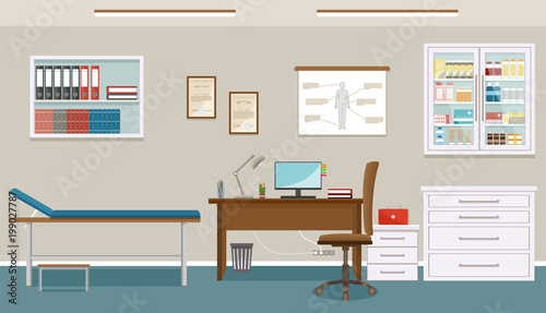 Enjoyable Doctors Consultation Room Interior In Clinic Hospital Download Free Architecture Designs Embacsunscenecom