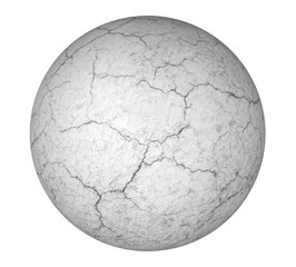Grey concrete ball isolated