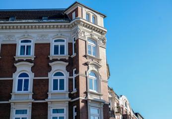 beautiful old architecture of Hamburg, Germany