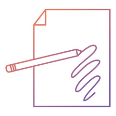 pencil write with paper documents vector illustration design