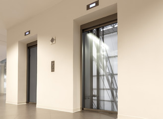 Glass elevator, high building ,office and shopping mall and hotel, transportation