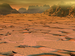Venus surface landscape