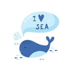 cute creative cards templates with ocean theme design.
