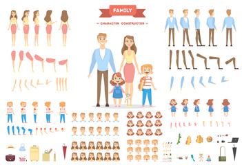 Family characters set.