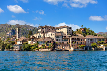 San Giulio island on Lake Orta in Italy.