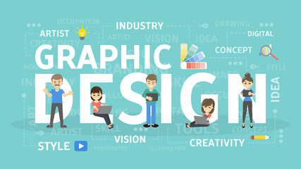 Graphic design concept.