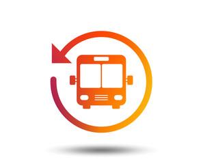 Bus shuttle icon. Public transport stop symbol. Blurred gradient design element. Vivid graphic flat icon. Vector