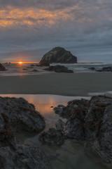 Photo sur Toile Cote Face Rock, Bandon, Oregon
