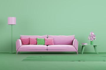 Pastel toned color style modern apartment idea
