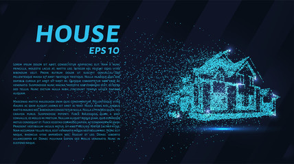 House of particles. The house consists of circles and points
