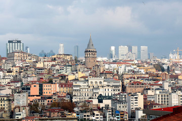 Roof of Istanbul, Valide Han, Turkey