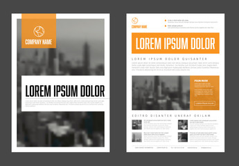 Modern orange business corporate brochure flyer design