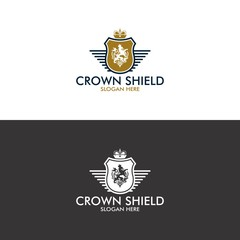 Crown Shield Logo in Vector