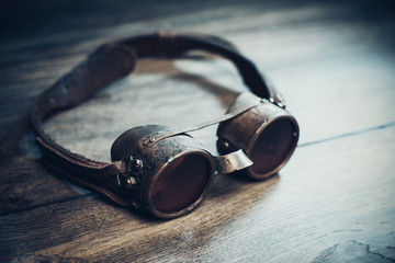 Steampunk or cyberpunk goggles