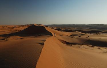 Courir dans les dunes