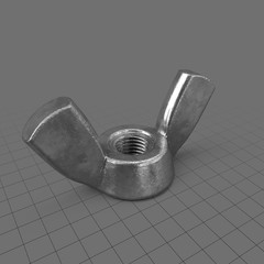 Wing nut with squared edges