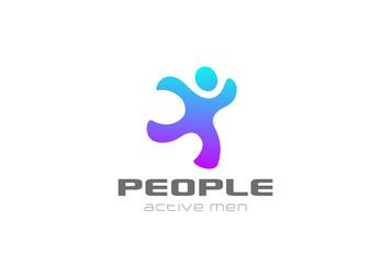 Running man Logo sport design vector. Delivery service icon