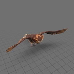 Stylized owl flying 1