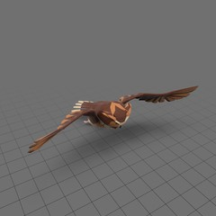 Stylized owl flying 2