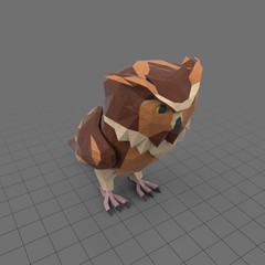 Stylized owl facing straight