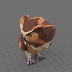 Stylized owl turned to the side