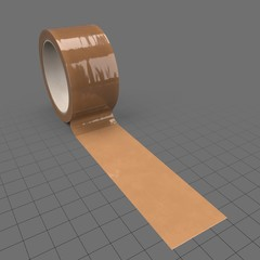 Roll of brown packing tape 1