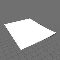 Single sheet of paper