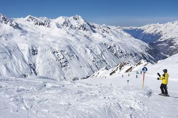 skifahrer in obergurgl