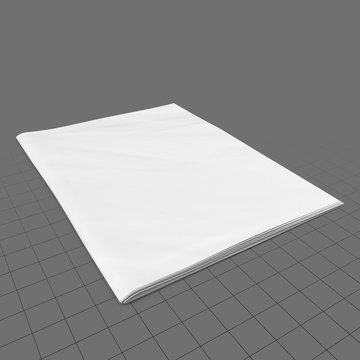 Single, folded newspaper for mockup 1