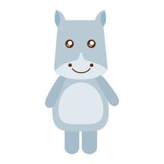 cute hippo animal icon vector illustration design