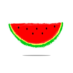 Red watermelons. Vector background with red watermelon slices.