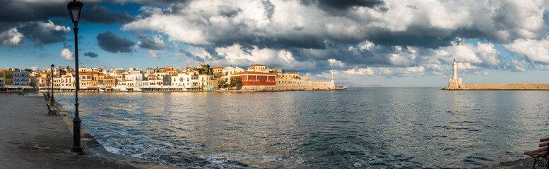 Chania cityscape and sea, Crete, Greece