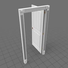 Open door with panel design 1