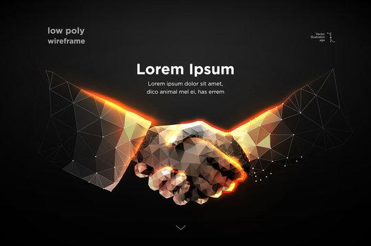 handshake. Blockchain.  vector