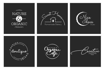 Illustration of logo designs