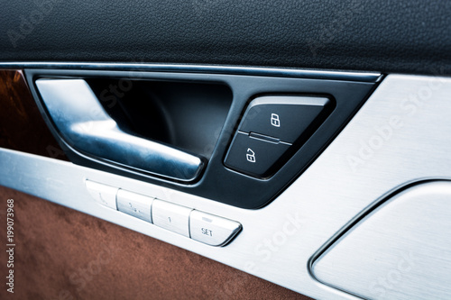 car door lock button. Car Door Interior Armrest With Window Control Panel, Lock Button.  Interior Details. Car Button