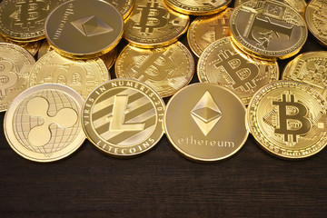 Virtual currency : Bitcoin, Ethereum, Ripple and Litecoin