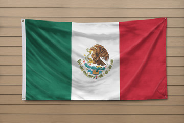 Mexico Flag hanging on a wall