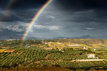 Double Rainbow and farm, Greece